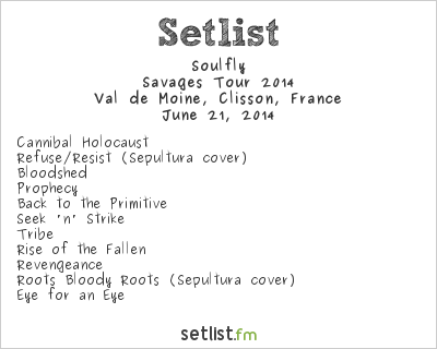 Soulfly Setlist Hellfest 2014, Savages Tour 2014