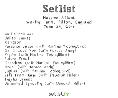 Massive Attack Setlist Glastonbury Festival 2014 2014