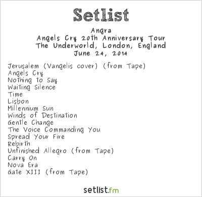 Angra Setlist The Underworld, London, England 2014