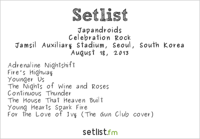 Japandroids Setlist City Break 2013 2013, Celebration Rock