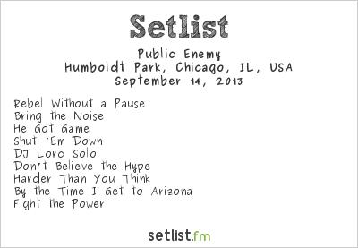 Public Enemy Setlist Riot Fest 2013 2013