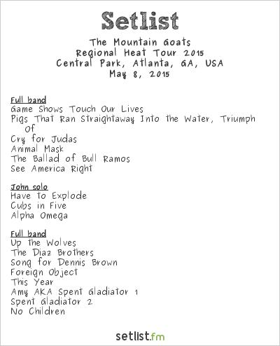 The Mountain Goats at Shaky Knees Music Festival 2015 Setlist