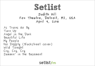 Judith Hill Setlist Fox Theatre, Detroit, MI, USA 2015
