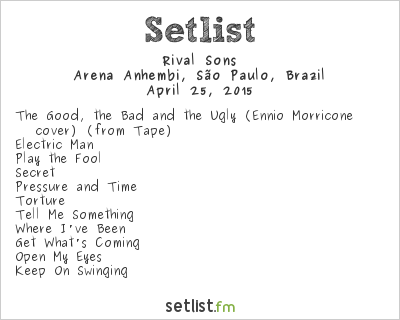 Rival Sons Setlist Monsters of Rock Brazil 2015 2015