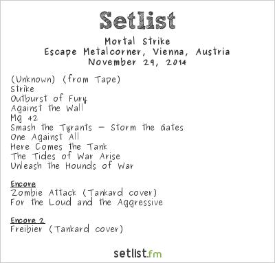 Mortal Strike Setlist Escape Metalcorner, Vienna, Austria 2014