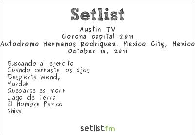 Austin tv Setlist Corona Capital 2011, Corona capital 2011
