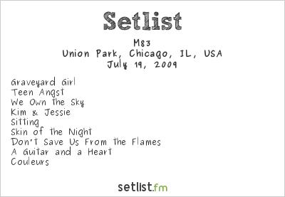 M83 Setlist Pitchfork Music Festival 2009 2009