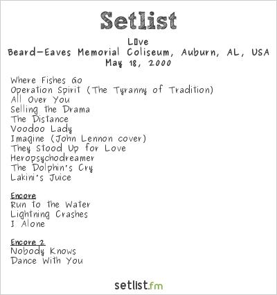 Live at Beard-Eaves Memorial Coliseum, Auburn, AL, USA Setlist