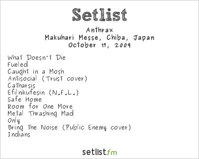 Anthrax Setlist Loud Park 2009 2009