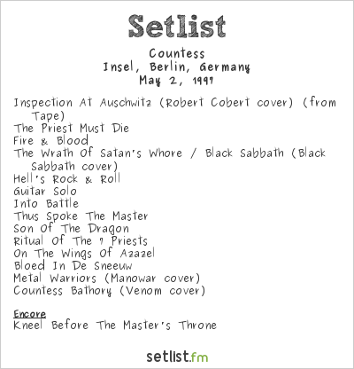 Countess Setlist Insel, Berlin, Germany 1997