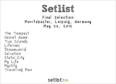 Final Selection Setlist Wave Gotik Treffen 2012 2012