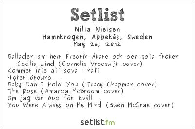 Nilla Nielsen Setlist Hamnkrogen, Abbekås, Sweden 2012