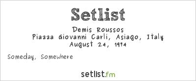 Demis Roussos at Festivalbar 1974 Setlist
