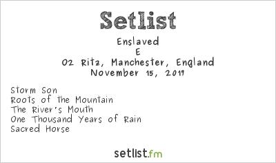 Enslaved Setlist O2 Ritz, Manchester, England 2017, E
