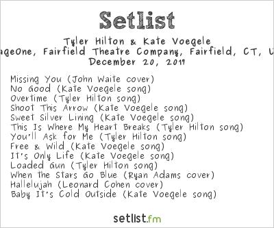 Tyler Hilton & Kate Voegele Setlist FTC Stage One, Fairfield, CT, USA 2017