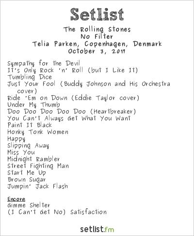 The Rolling Stones at Telia Parken, Copenhagen, Denmark Setlist