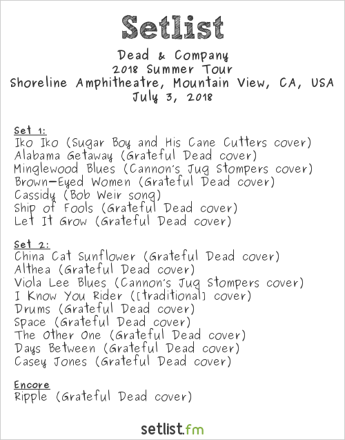 Review - Dead & Company @ Shoreline Amphitheater (7/2 & 7/3