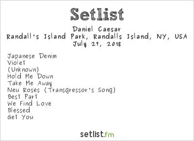 Daniel Caesar Setlist Panorama NYC 2018 2018