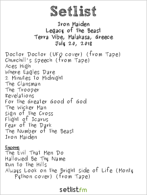 Iron Maiden Setlist Rockwave Festival 2018 2018, Legacy of the Beast