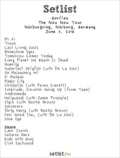 Gorillaz Setlist Rock am Ring 2018 2018, The Now Now Tour