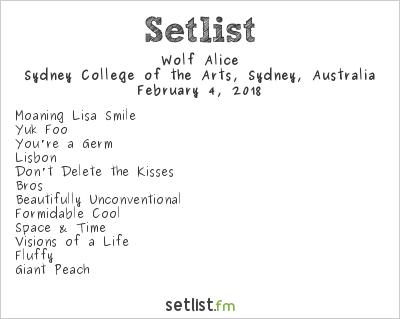 Wolf Alice Setlist Laneway Festival Sydney 2018 2018