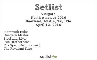 Visigoth Setlist Beerland, Austin, TX, USA, North America 2016