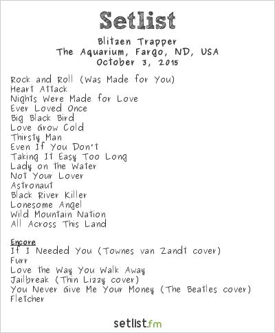 Blitzen Trapper Setlist The Aquarium Fargo Nd Usa 2015
