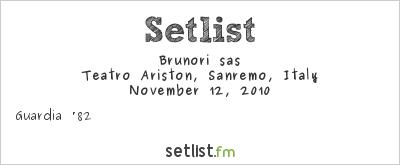 Brunori Sas Setlist Rassegna della Canzone d'Autore di Sanremo 2010 2010