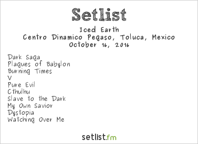 Iced Earth Setlist Knotfest México 2016 2016