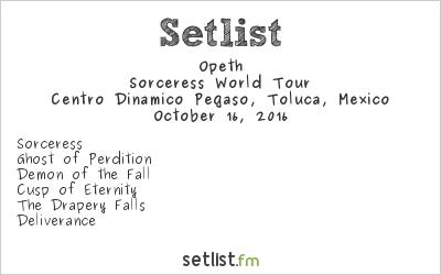 Opeth Setlist Knotfest México 2016 2016, Sorceress World Tour