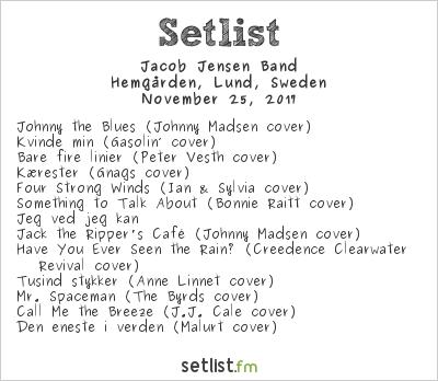 Jacob Jensen Band at Europakonsert 2017 Setlist