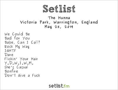 The Hunna Setlist Neighbourhood Weekender 2019 2019