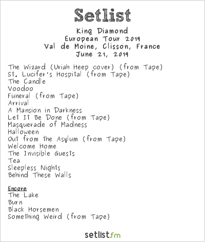 King Diamond Setlist Hellfest 2019, European Tour 2019