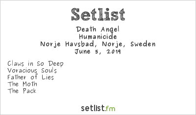 Death Angel Setlist Sweden Rock Festival 2019 2019, Humanicide