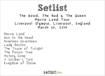 The Good, the Bad & the Queen Setlist BBC Radio 6 Music Festival 2019 2019