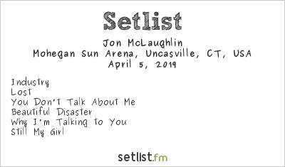 Jon McLaughlin Setlist Mohegan Sun Arena, Uncasville, CT, USA 2019