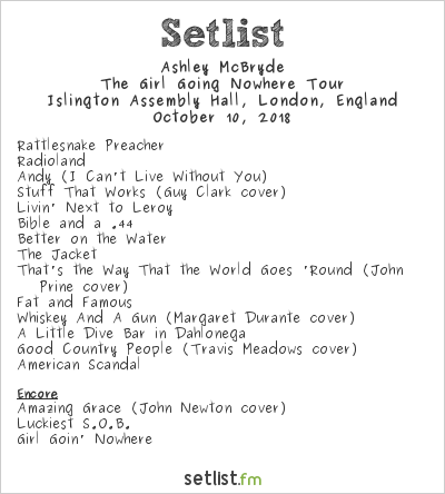 Ashley McBryde Setlist Islington Assembly Hall, London, England 2018