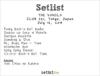 THE VANILA Setlist CLUB251, Tokyo, Japan 2019