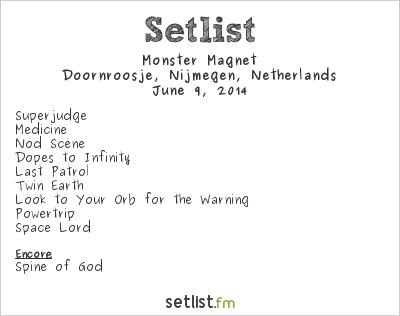 Monster Magnet Setlist Doornroosje, Nijmegen, Netherlands 2014