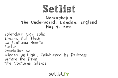 Necrophobic Setlist Incineration Festival 2015 2015