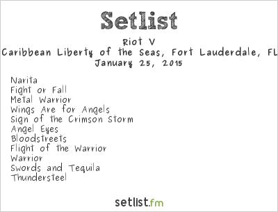 Riot V Setlist 70,000 Tons of Metal 2015 2015