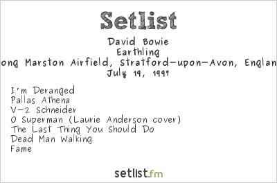 David Bowie Setlist Phoenix Festival 1997 1997, Earthling Tour