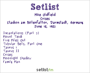 Mike Oldfield Setlist Midsummer Night's Dream 1983 #4 1983, Crises