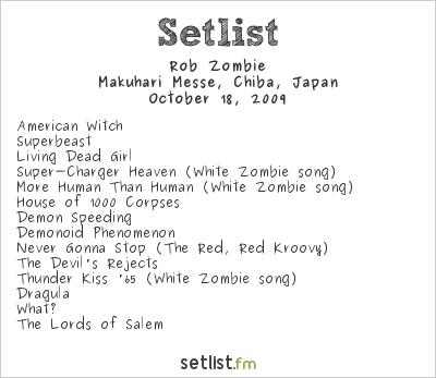 Rob Zombie Setlist Loud Park 2009 2009