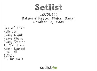 Loudness Setlist Loud Park 2009 2009
