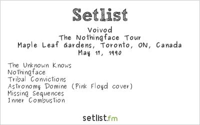 Voivod Setlist Maple Leaf Gardens, Toronto, ON, Canada 1990, The Nothingface Tour