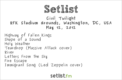 Setlist s for DC101 Chili Cook f 2012 at RFK Stadium – DC101