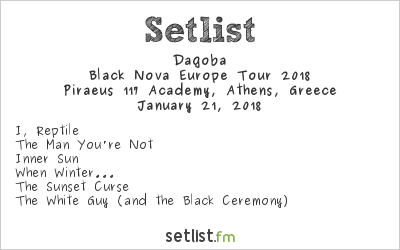 Dagoba Setlist Piraeus 117 Academy, Athens, Greece, Black Nova Europe Tour 2018