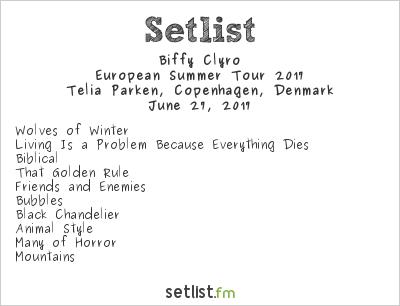 Biffy Clyro Setlist Telia Parken, Copenhagen, Denmark, European Summer Tour 2017