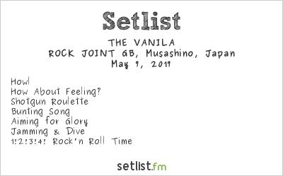THE VANILA Setlist ROCK JOINT GB, Kichijōji, Japan 2017